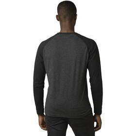Prana Baseball Raglan Camiseta Manga Larga Hombre, black stripe